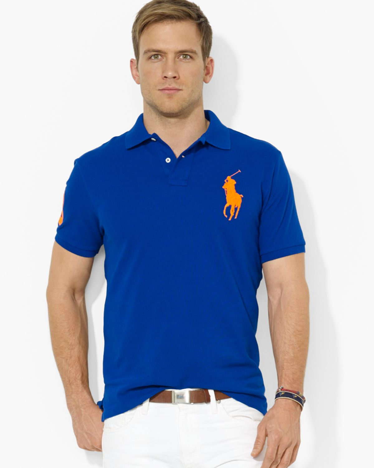 Marein polo ralph lauren custom fit men shirt Man in polo shirt