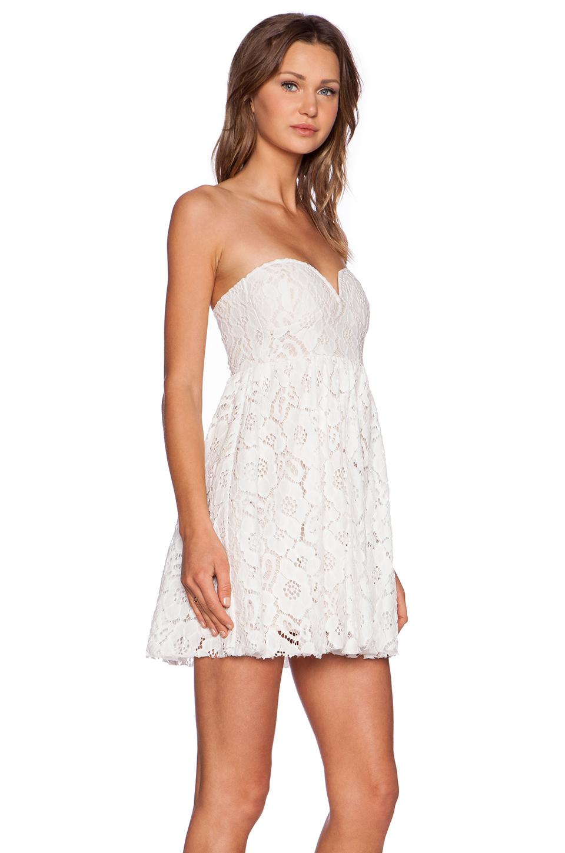 strapless white lace summer dress « Bella Forte Glass Studio