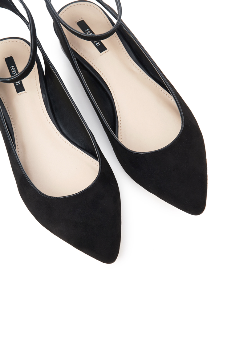 Lyst - Forever 21 Pointed Ankle Strap Flats You ve Been Added To The ... d30e0c6834
