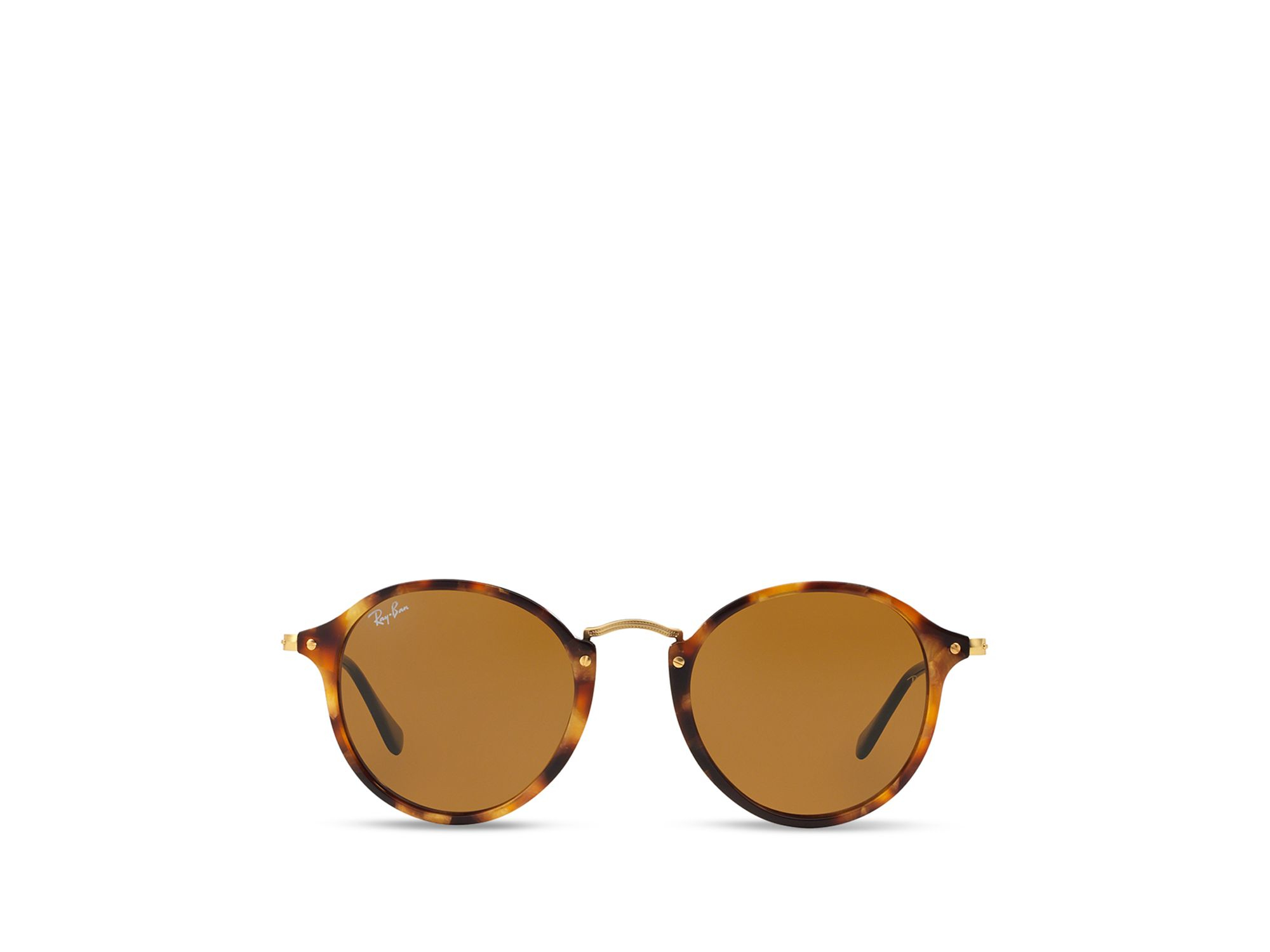 a21b8700dcc Ray-Ban Retro Round Sunglasses in Brown for Men - Lyst
