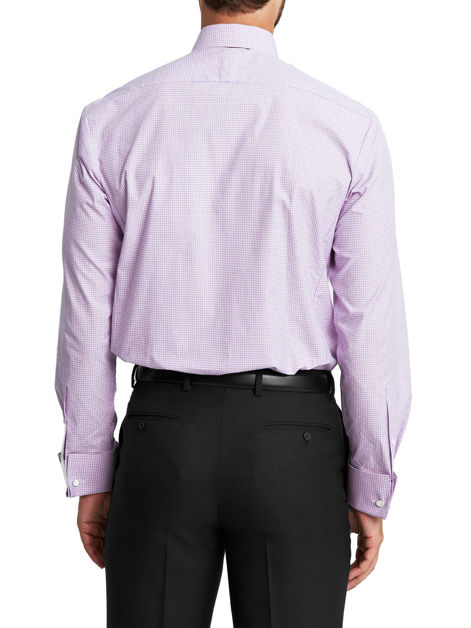 Thomas Pink Slim Fit Double Cuff Shirt In Purple For Men