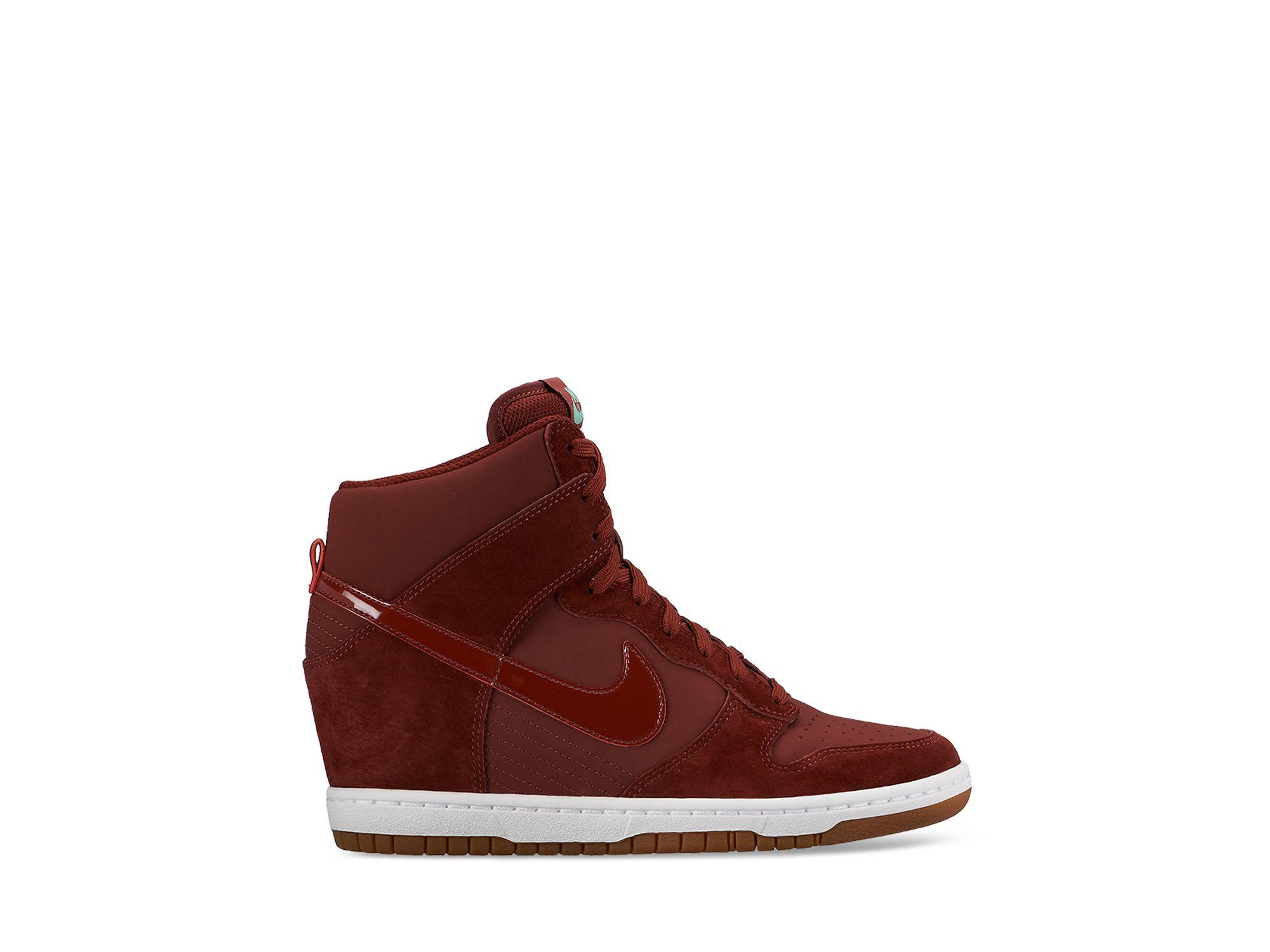 cb7ec9aed687 ... sky hi top hidden wedge shoe 528899 501 purple d6086 3a038  buy  gallery. previously sold at bloomingdales womens wedge sneakers womens nike  dunk womens ...