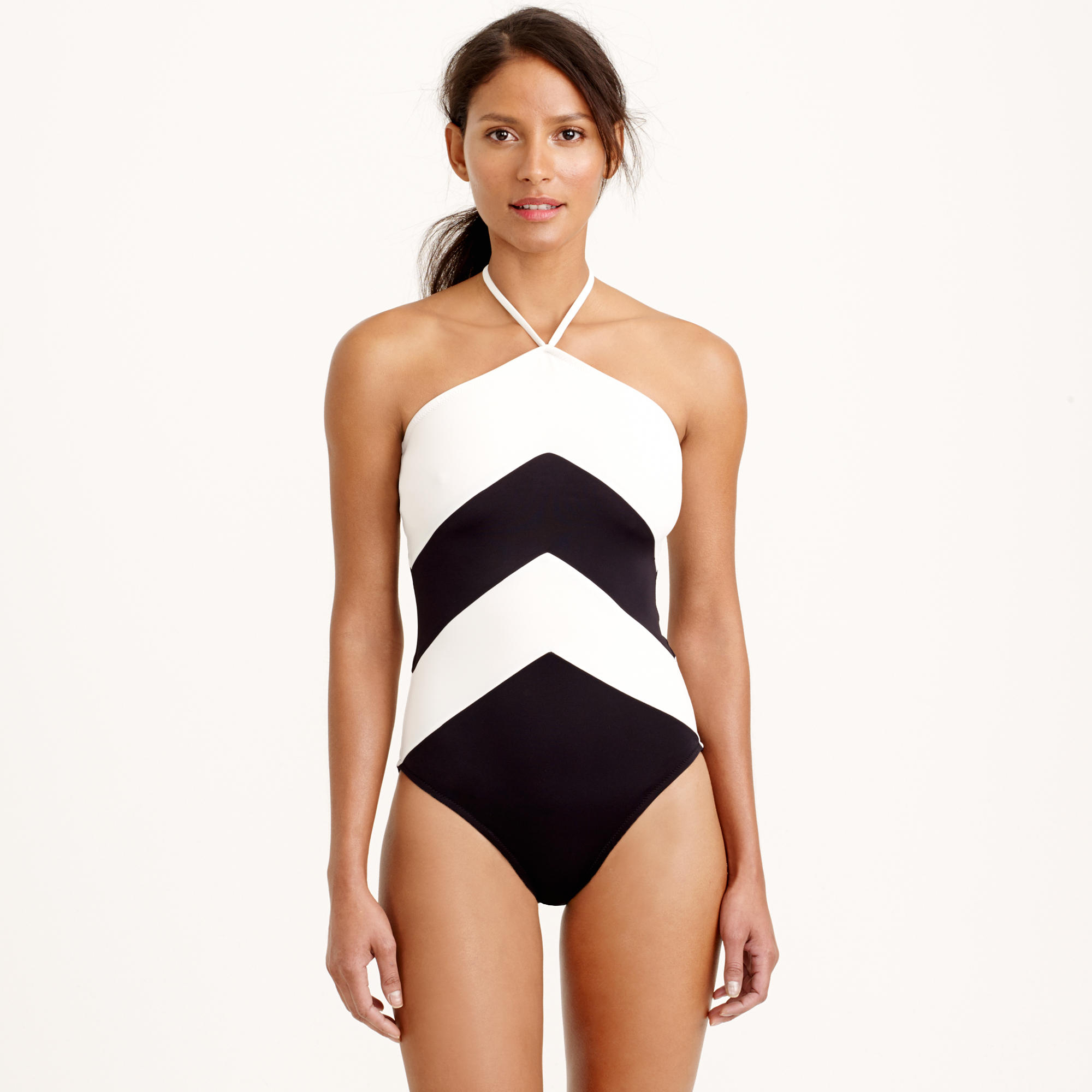 c3ea07fafb3 ... Gallery CIDEARY One Piece Swimsuits Black High Cut Monokini Halter ...