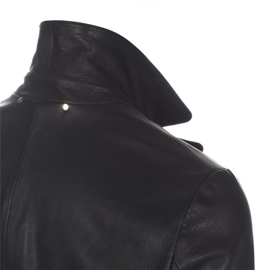 Paul Smith Black Sheepskin Leather Jacket for Men