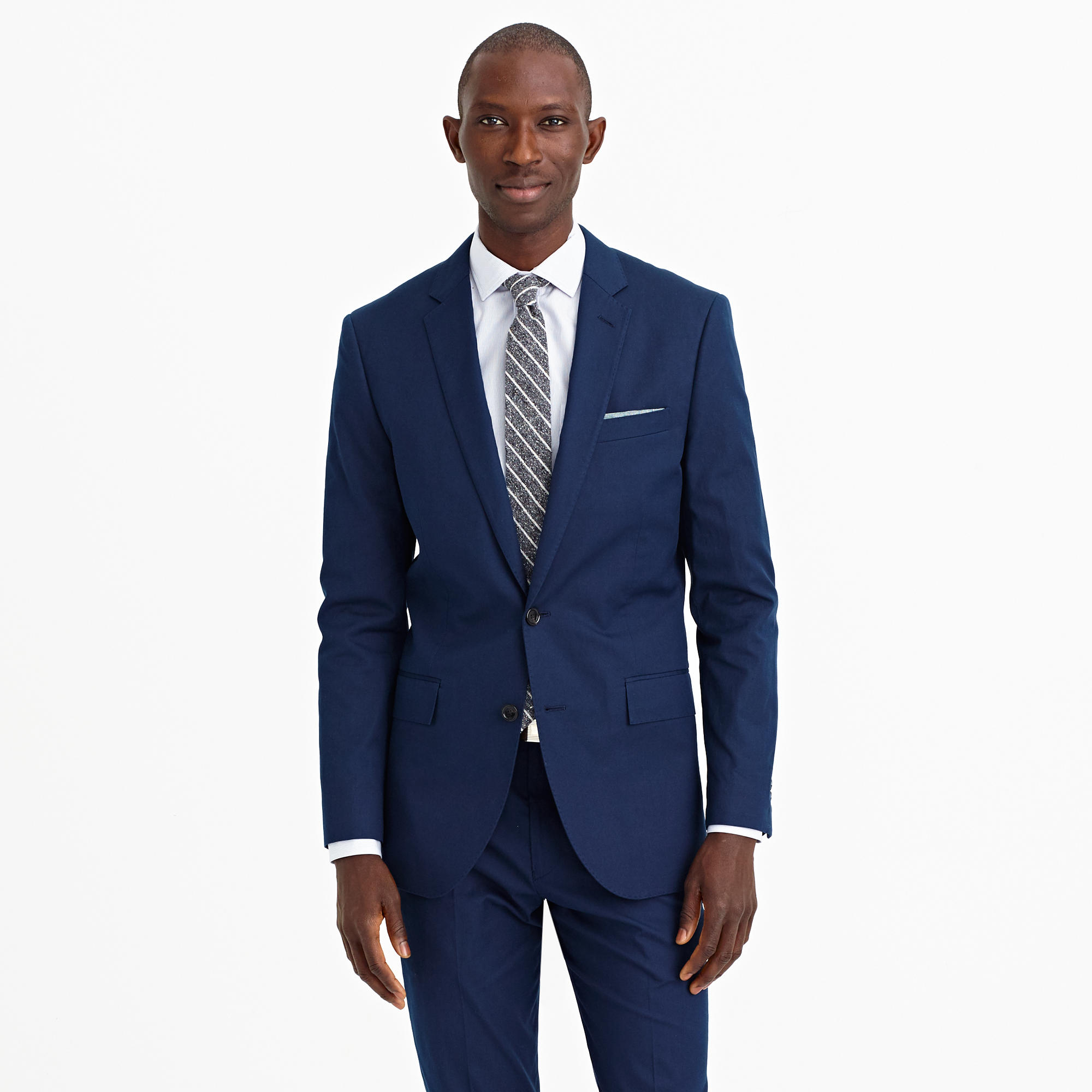 J.crew Ludlow Suit Short In Italian Cotton Piqué in Blue for Men
