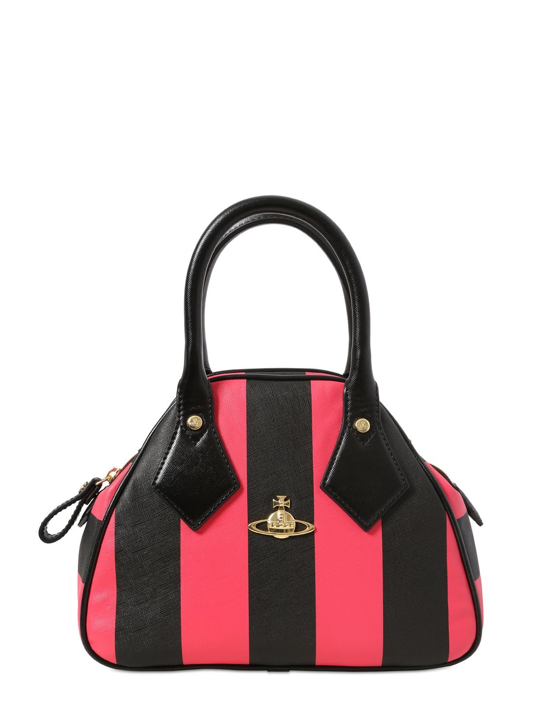 Vivienne Westwood Santa Monica Striped Faux Leather Bag In