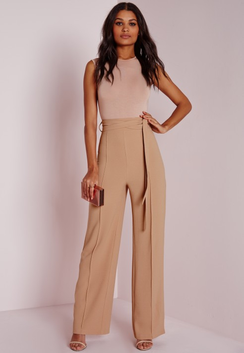 Aila Wide Leg Pants in Beige I've seen lots of similar silhouettes in denim this season too if you're afraid of the khakis but I'm excited that these will work for the office and also Lucca Couture Lucca Couture Isla Beige Multi Wide Leg Contrast Cuff Pant.