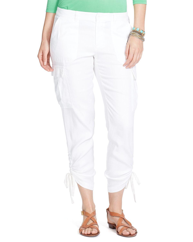 Ralph Lauren Lauren Cargo Pants In White Lyst