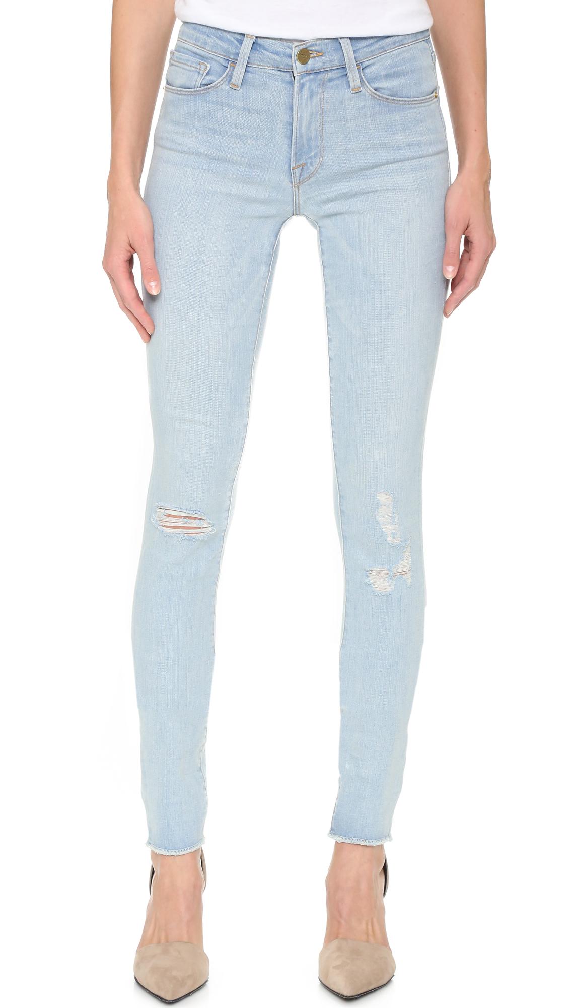 Frame Karlie Forever Skinny Jeans in Blue - Lyst