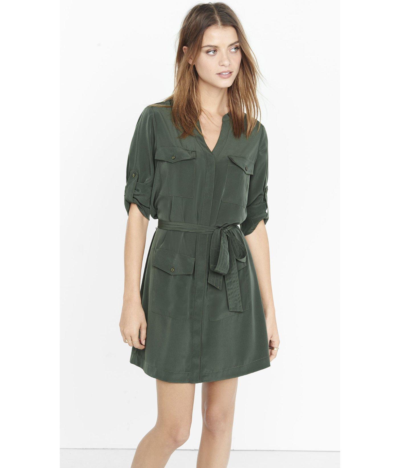 Green Shirt Dress