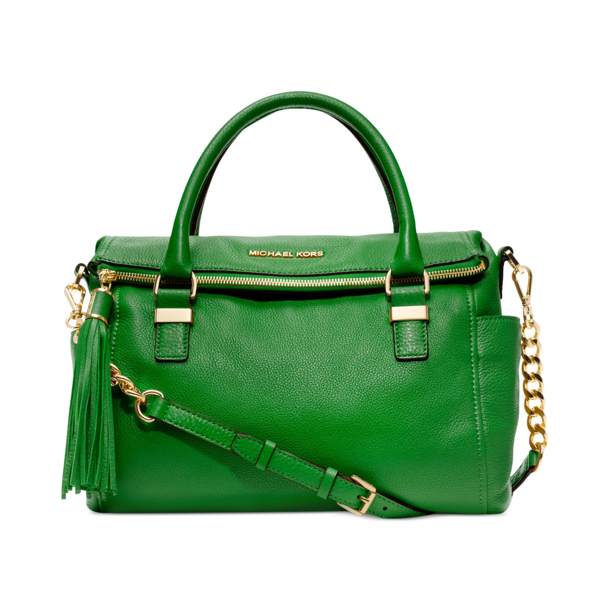 f5939cb496f193 ... coupon for lyst michael kors weston medium satchel in green 79b23 58111