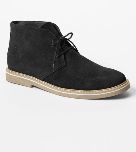 gap desert boots in black for true black lyst