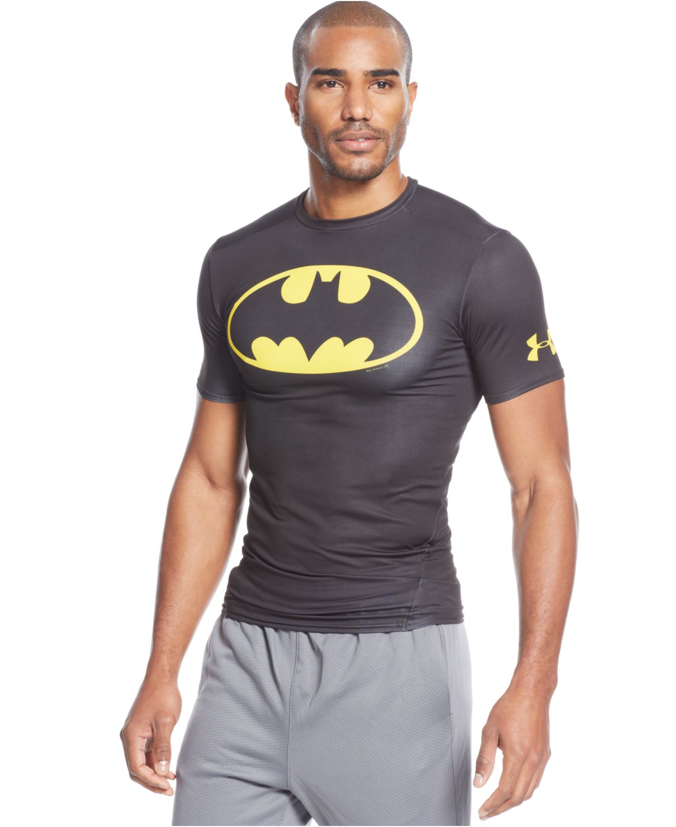 Under armour Alter Ego Batman Compression T-Shirt in Gray ...