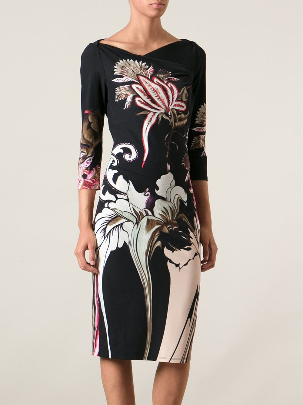 Discount Footlocker Pictures Store Cheap Price Just Cavalli floral print dress Visit Cheap Price Buy Cheap Visit New Amazon Footaction ItHf416