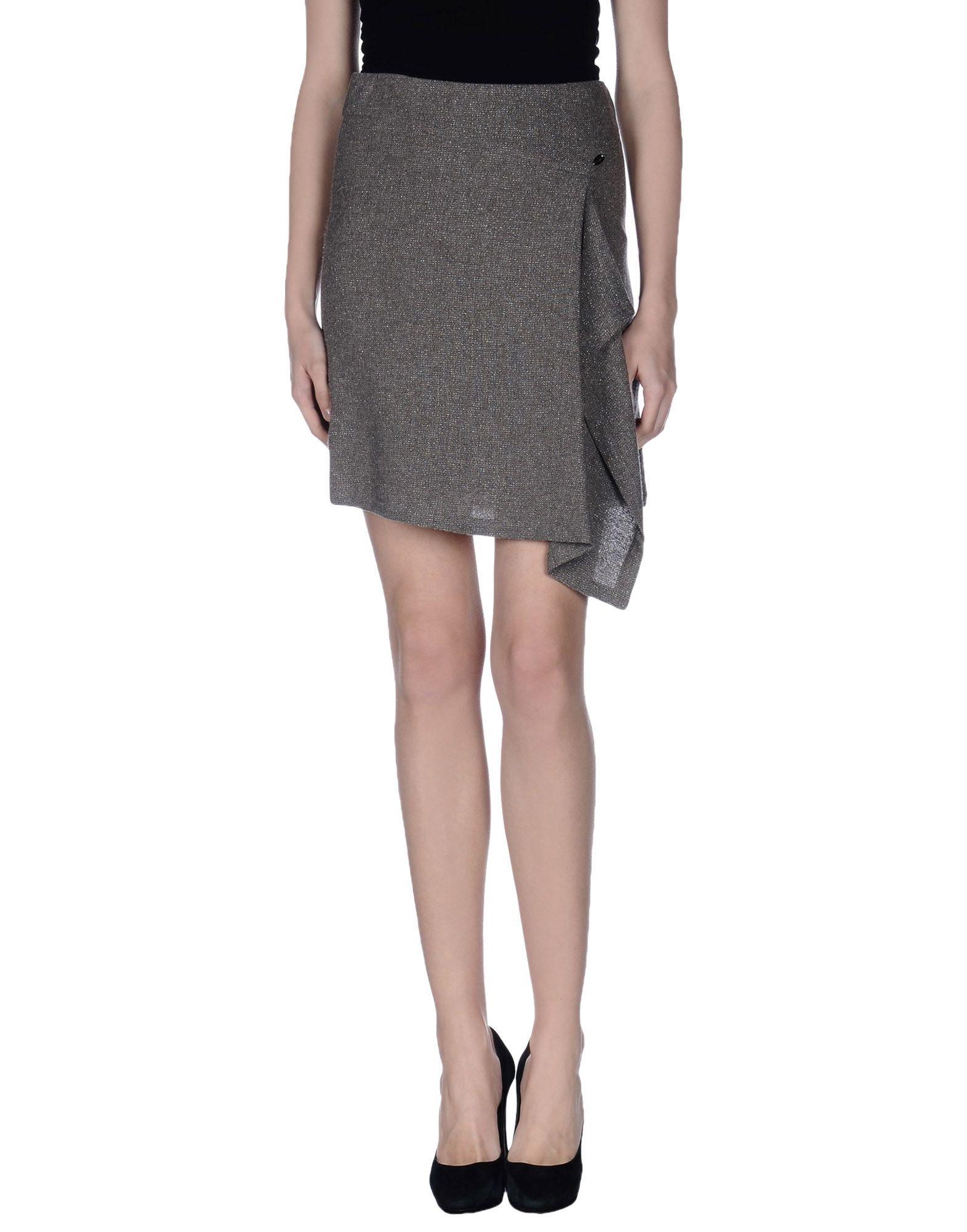 gaudi knee length skirt in gray lyst