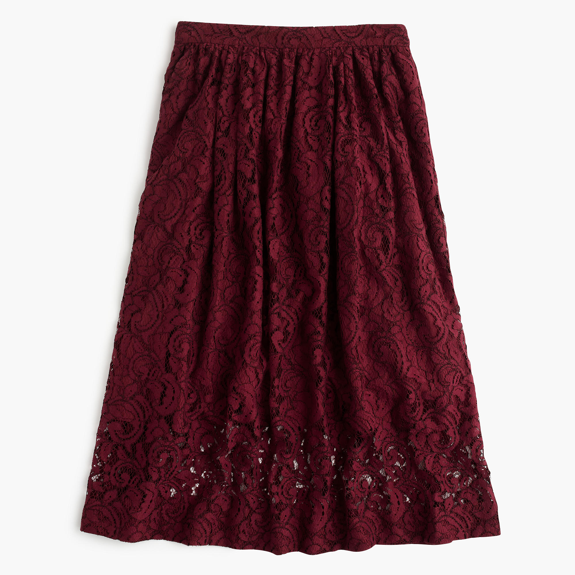 j crew floral lace a line skirt in purple lyst