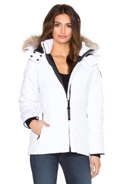 canada goose Outerwear White