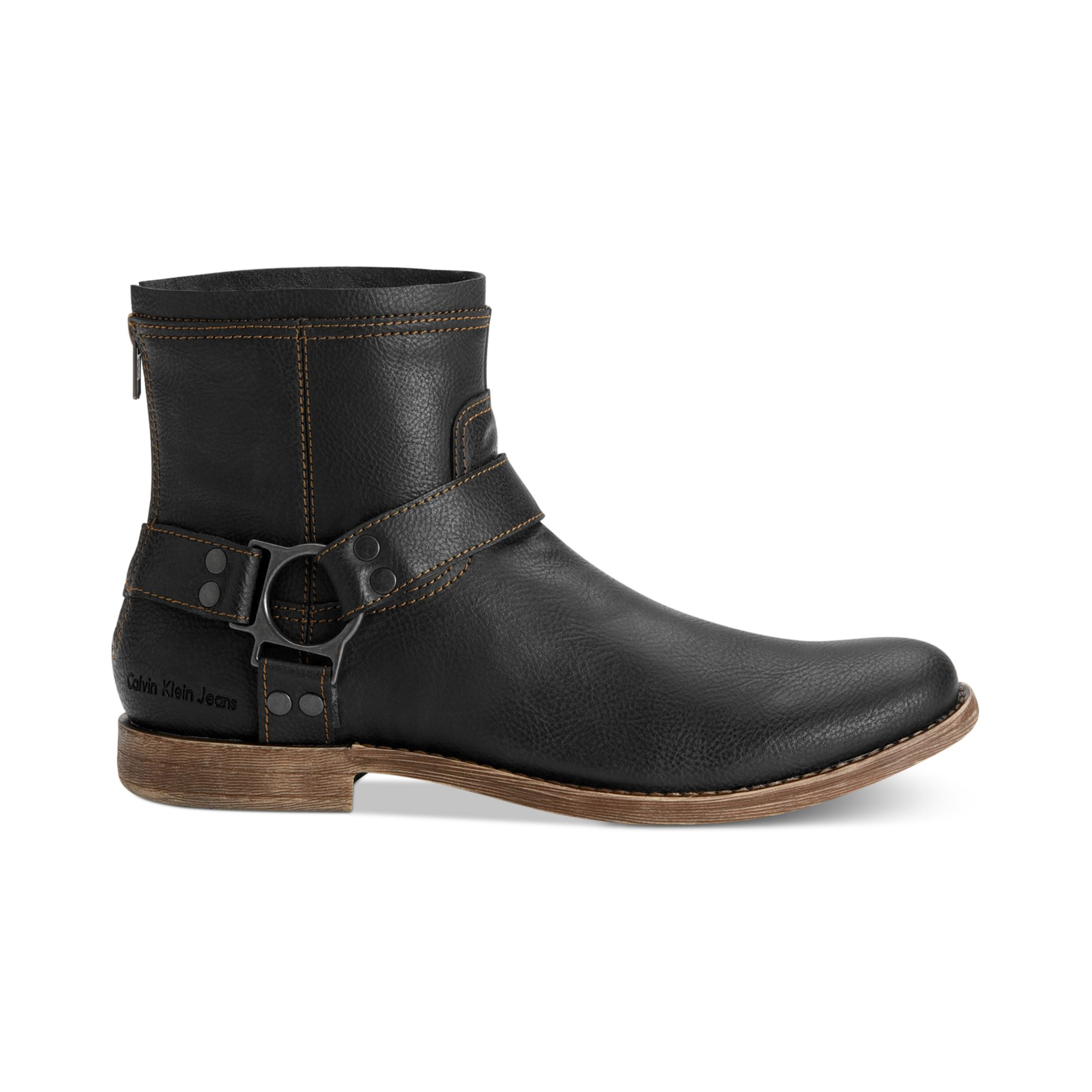 Mens harness boots with jeans