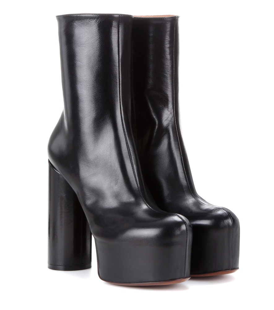 Vetements Leather Platform Boots in