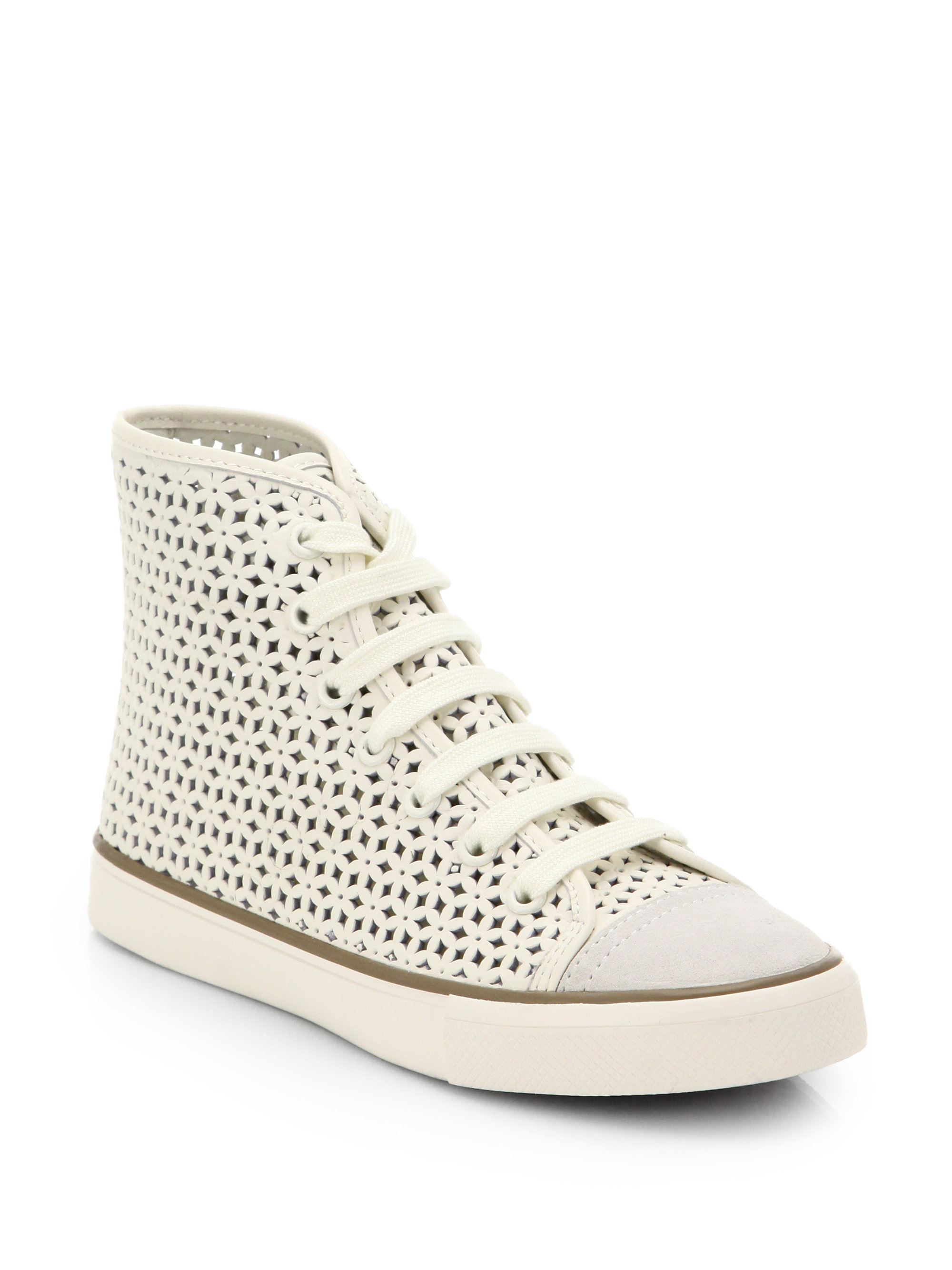 Tory Burch Laser Cut High-Top Sneakers great deals cheap online 5laly