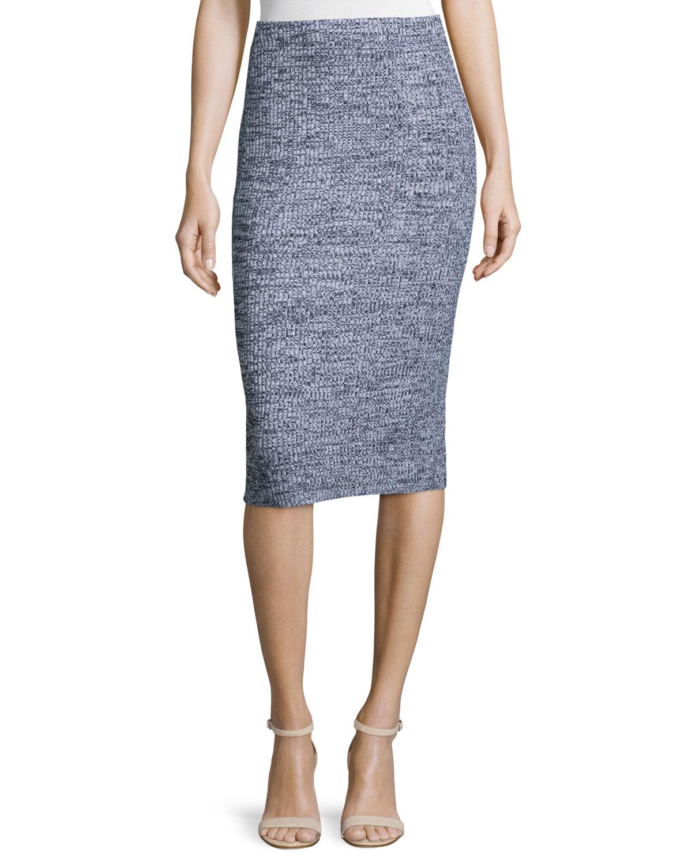 theory nellida marled knit skirt lyst