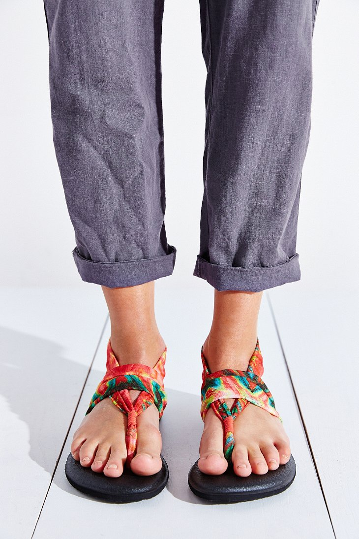 c56e1ac22fec Lyst - Sanuk Tie-dye Yoga Sling Sandal in Black