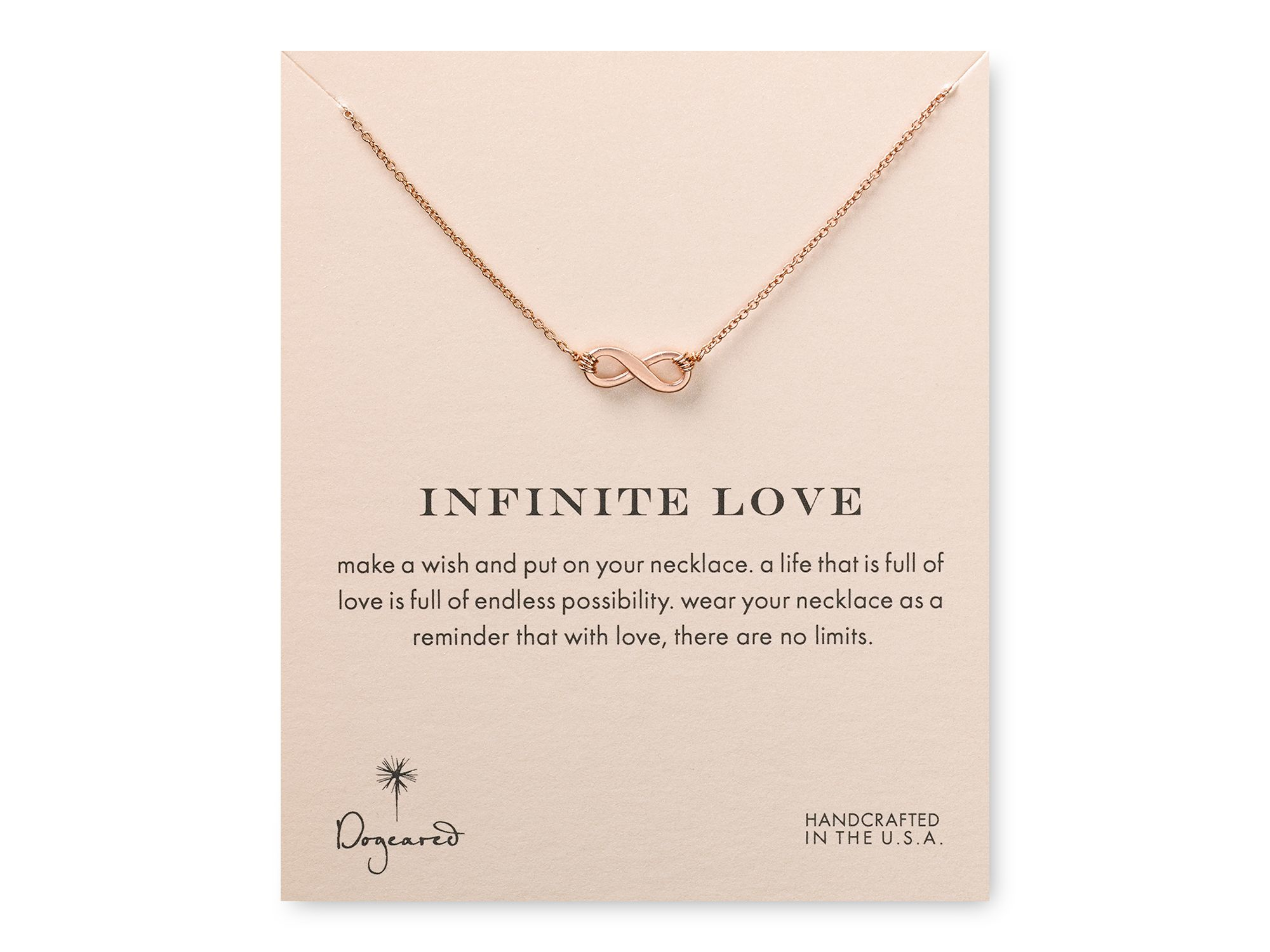 Lyst dogeared infinite love necklace 18 in pink gallery aloadofball Images