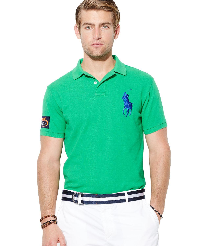Ralph Lauren Polo Us Open Custom Big Pony Polo Shirt Slim