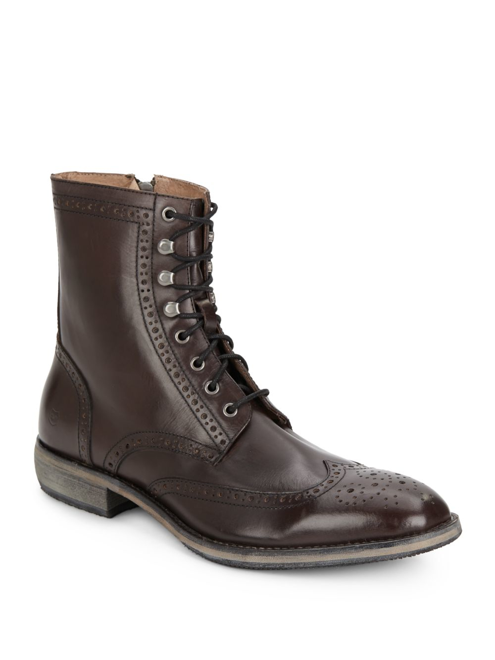 andrew marc hillcrest leather brogue wingtip ankle boots