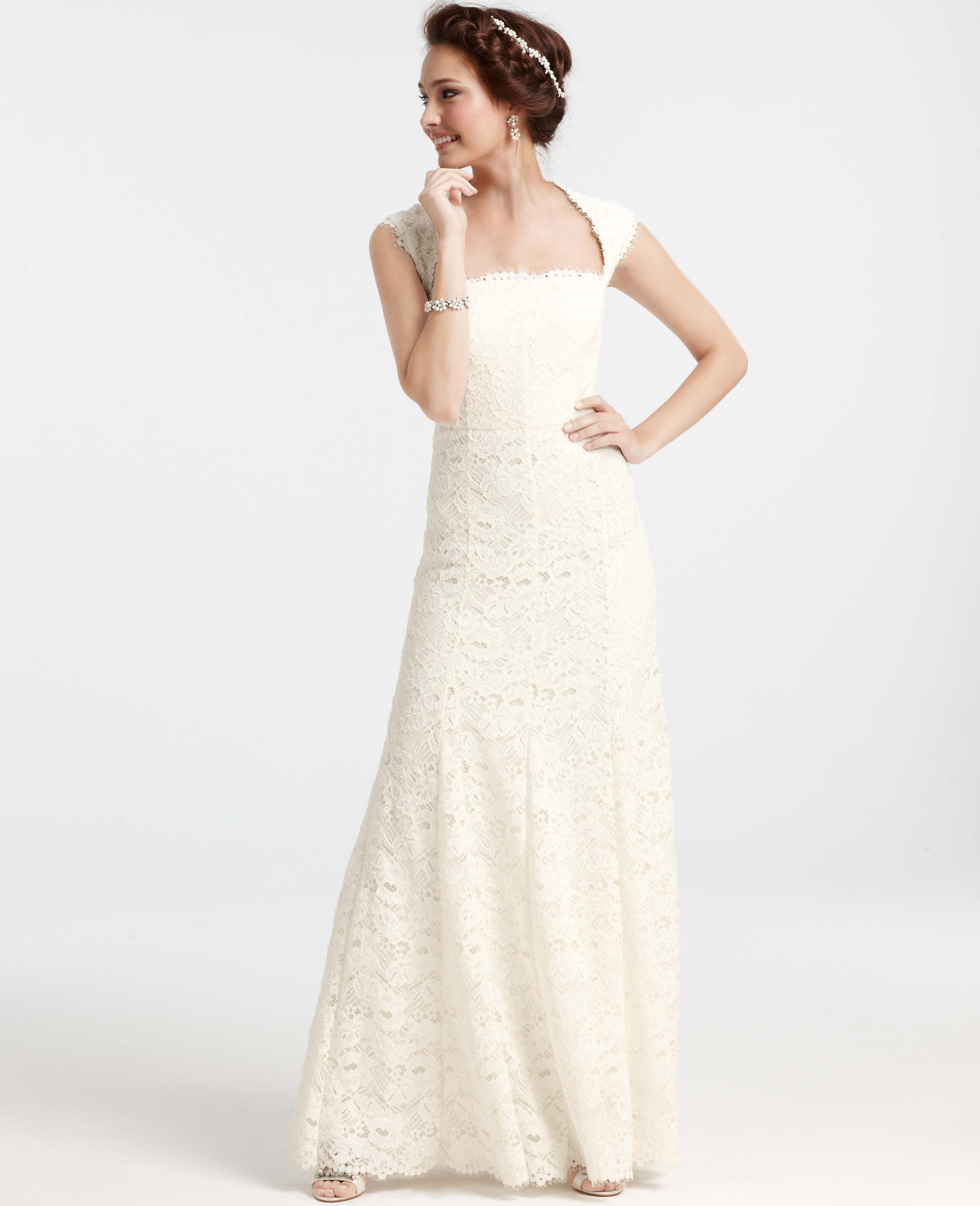 Lyst - Ann Taylor Isabella Lace Wedding Dress in White