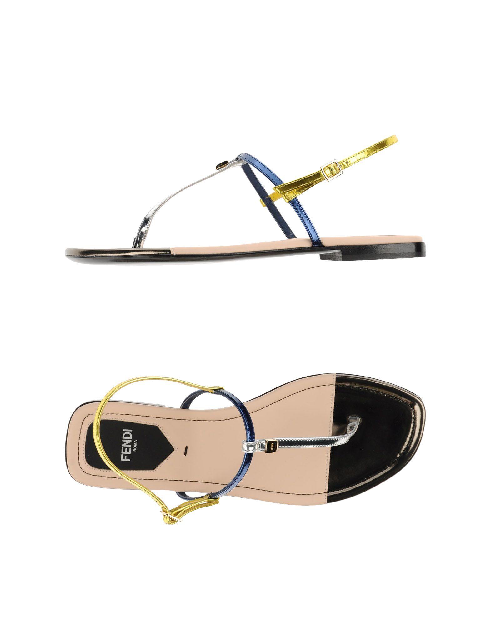 602b039f8053 Lyst - Fendi Thong Sandal in Metallic