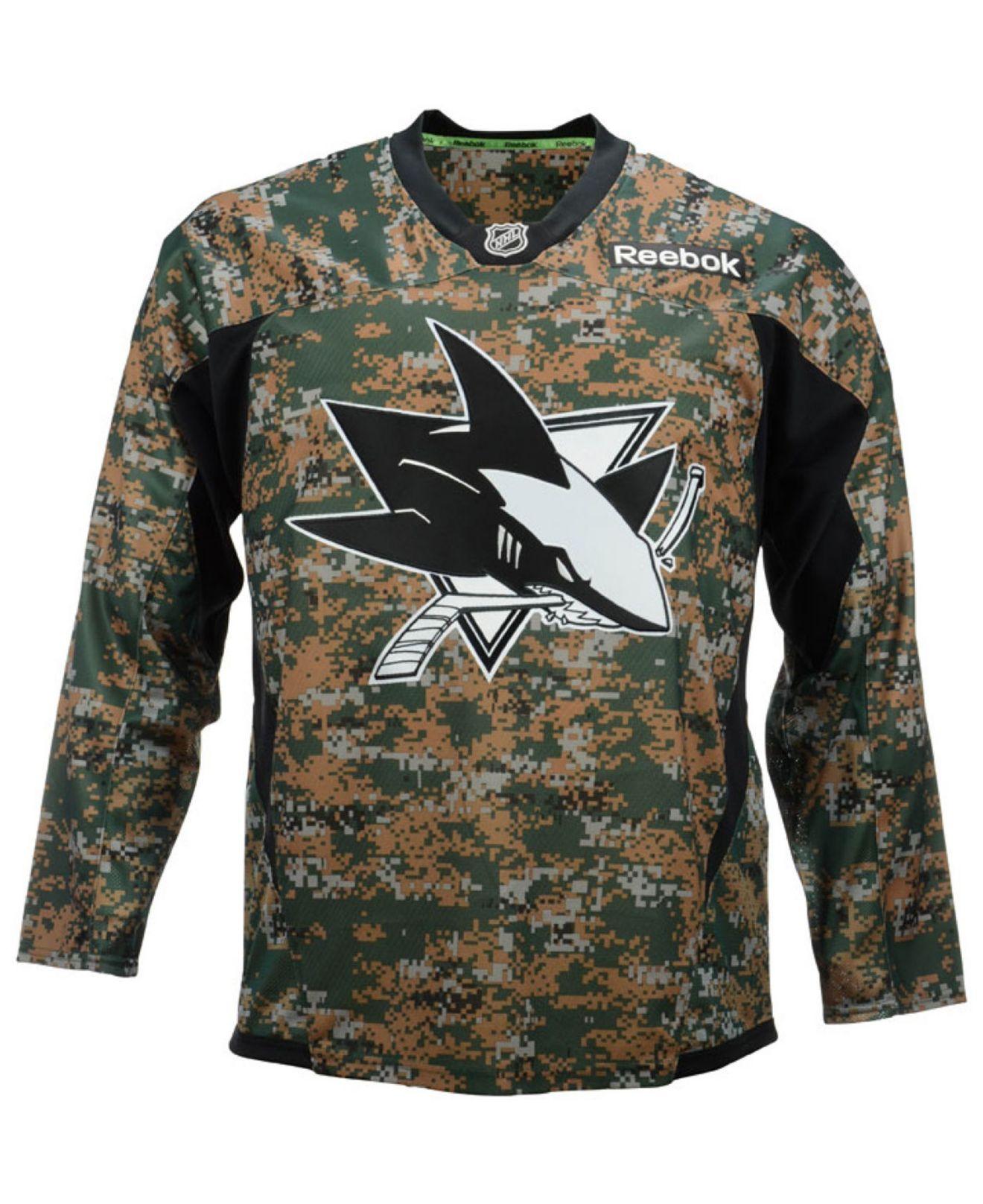 quality design 179cc d6a75 san jose sharks military jersey
