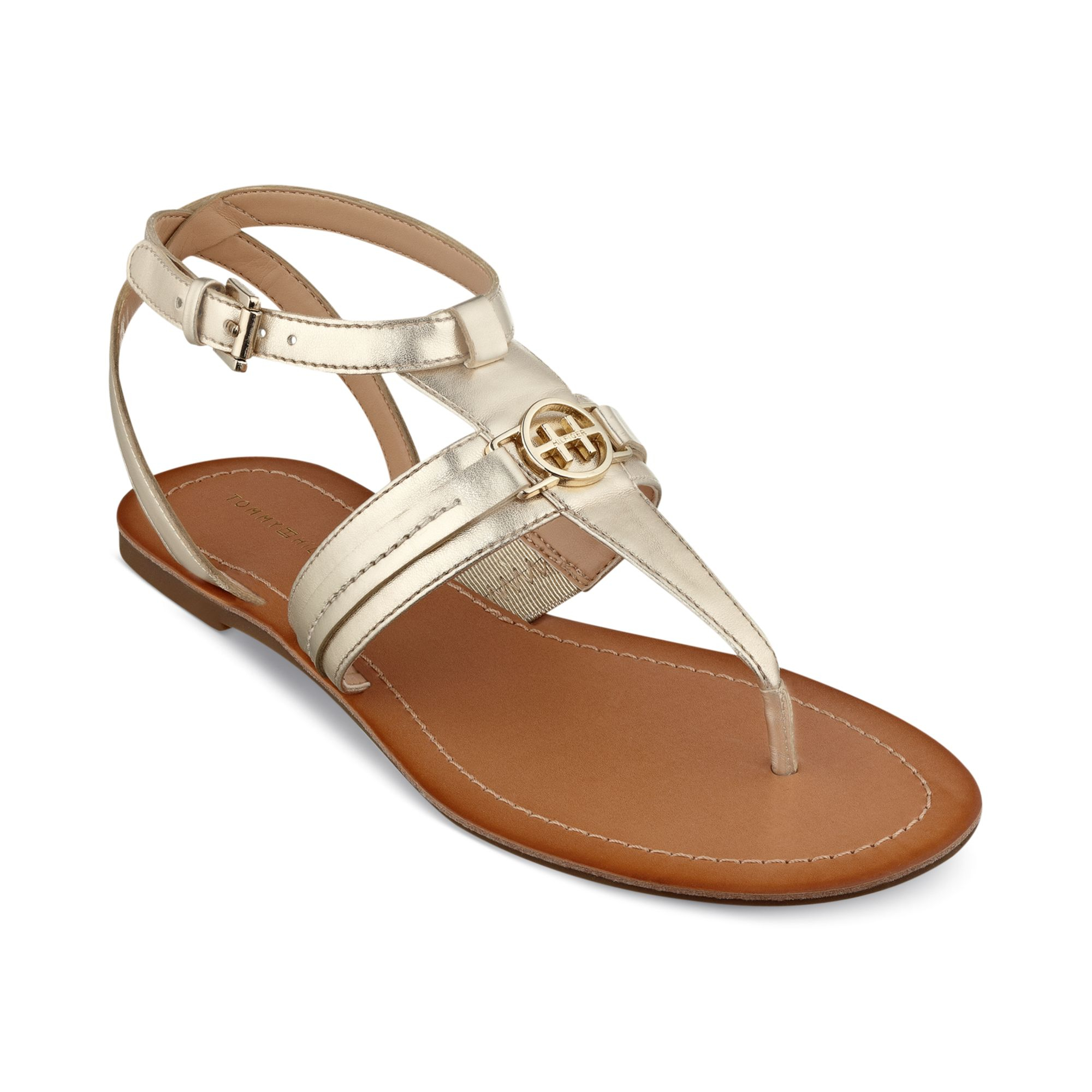 Lyst Tommy Hilfiger Womens Lorine Flat Thong Sandals In