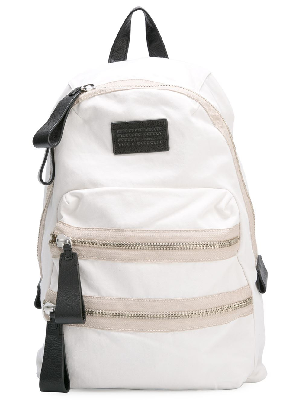 marc by marc jacobs 39 domo biker 39 backpack in white lyst. Black Bedroom Furniture Sets. Home Design Ideas