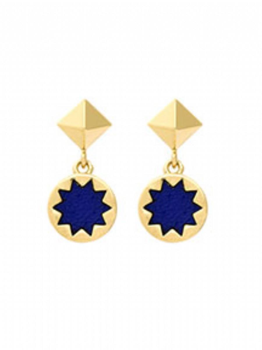 house of harlow 1960 sunburst drop earrings in blue