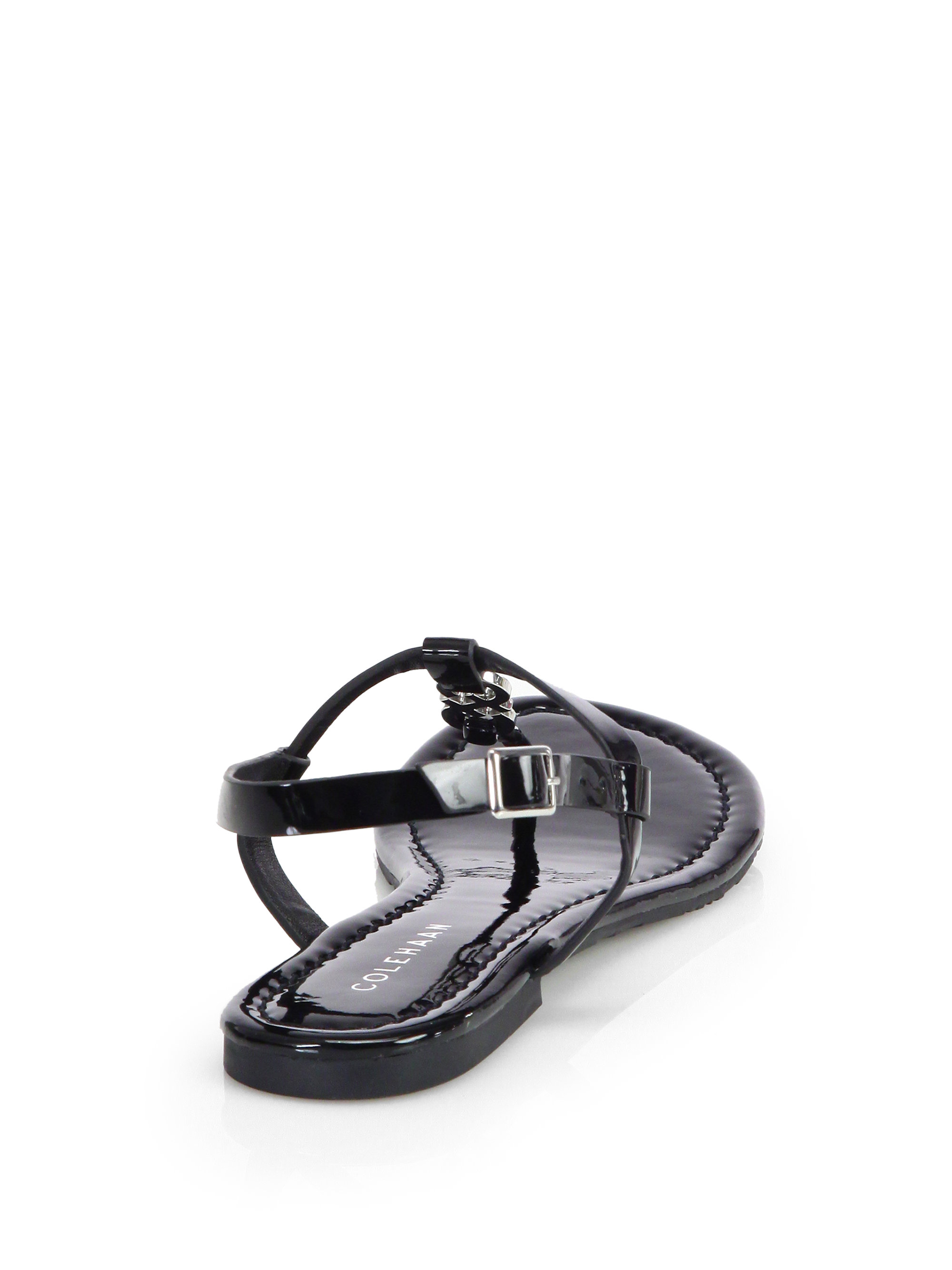 Cole Haan Ally Patent Leather Thong