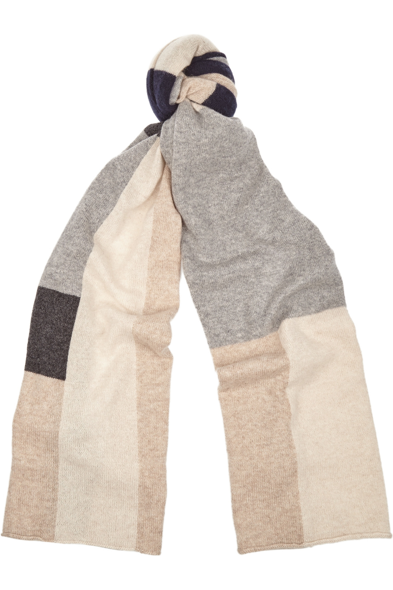 9187793e96435 Madeleine Thompson Color-block Cashmere Scarf in Gray - Lyst