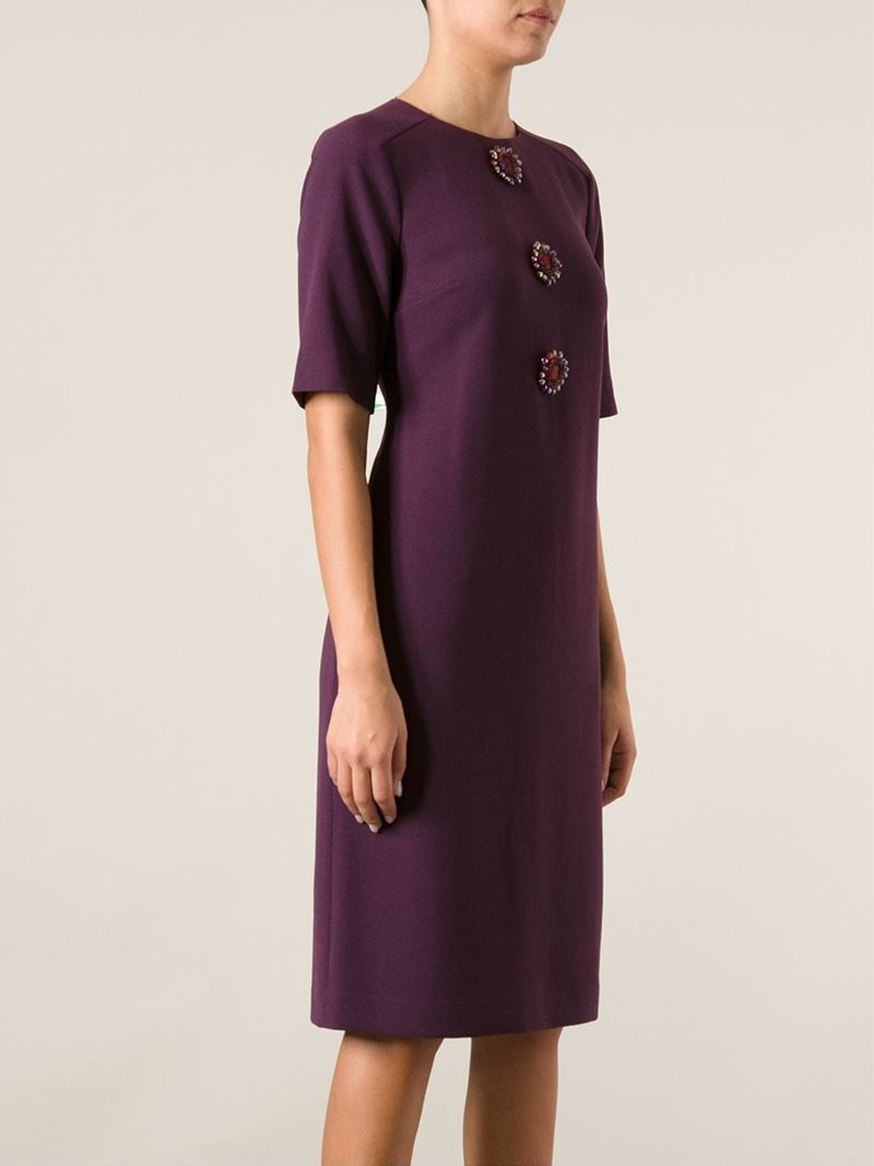 Tory burch embellished shift dress in purple lyst for Tory burch fashion island