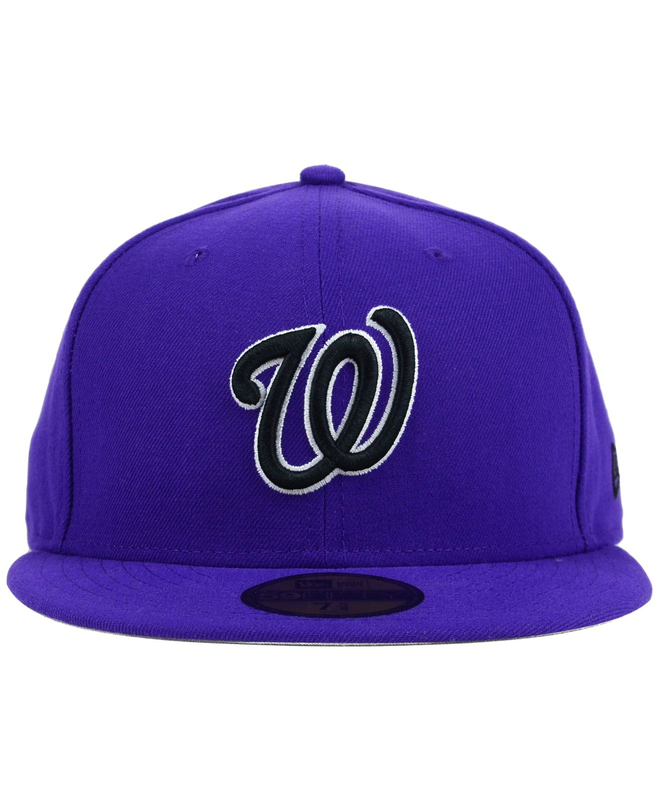 new styles 55467 fa80f ... official lyst ktz washington nationals c dub 59fifty cap in purple for  men 9f946 e6dbe ...