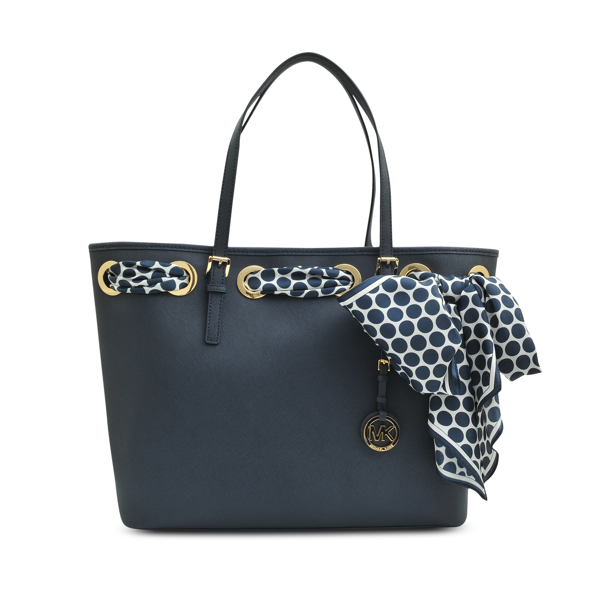 Michael Kors Jet Set Item Scarf Tote In Blue Lyst. Michael Kors Scarf Totes  Leather Canvas ... e820cc0b73094