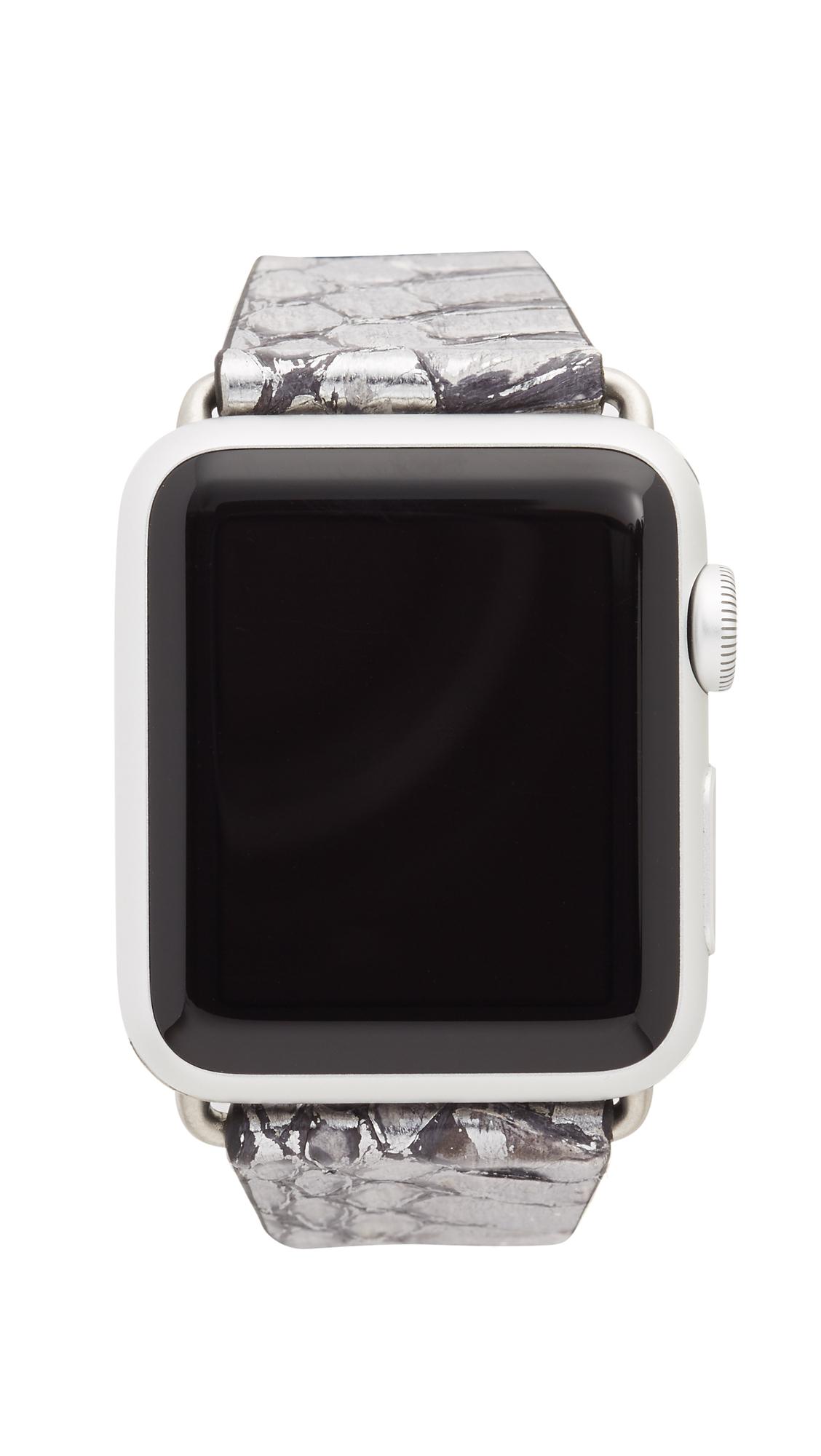 Rebecca Minkoff Snakeskin 38mm Apple Watch Band in