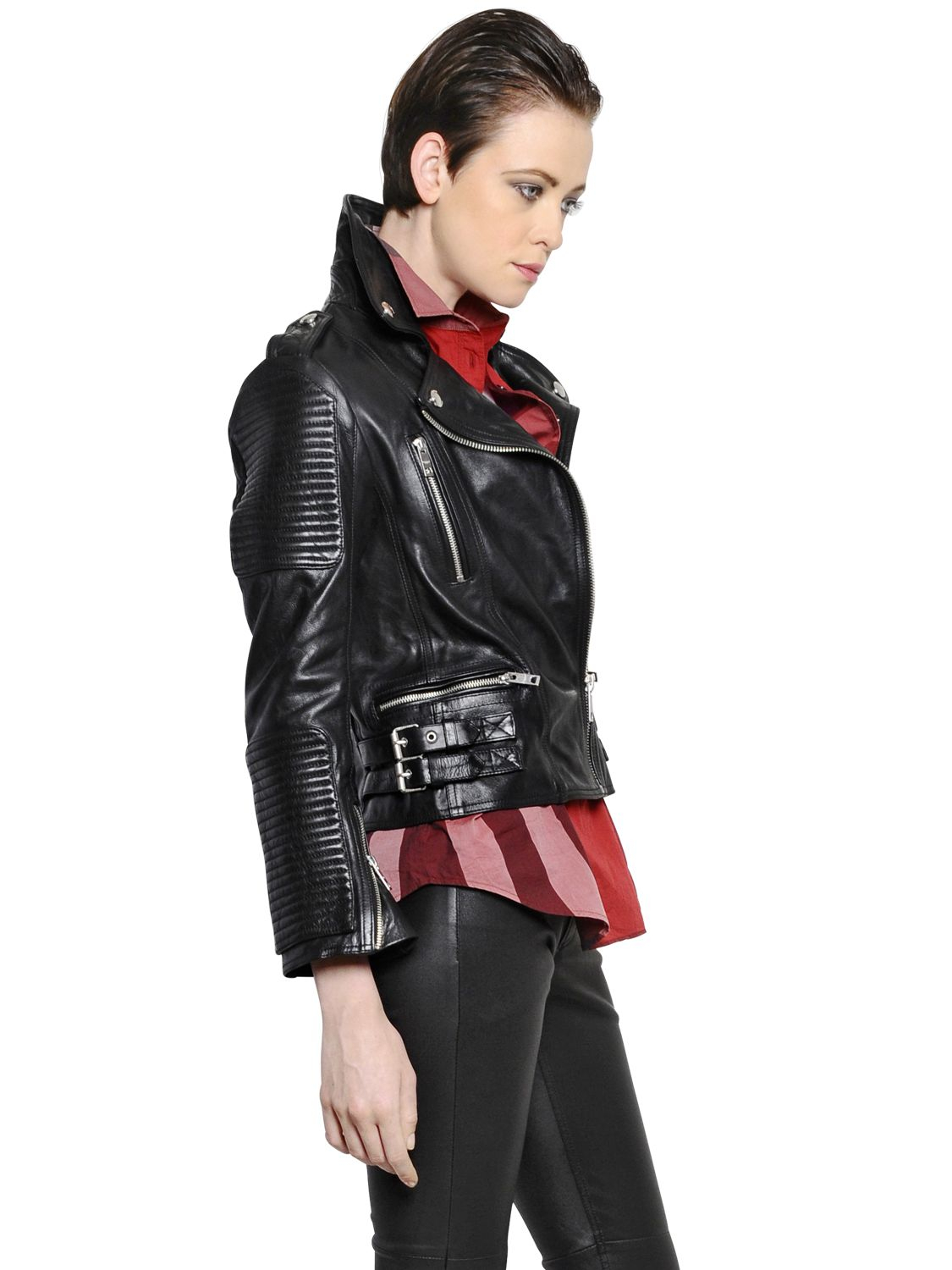 Cole Haan Leather Jacket Womens