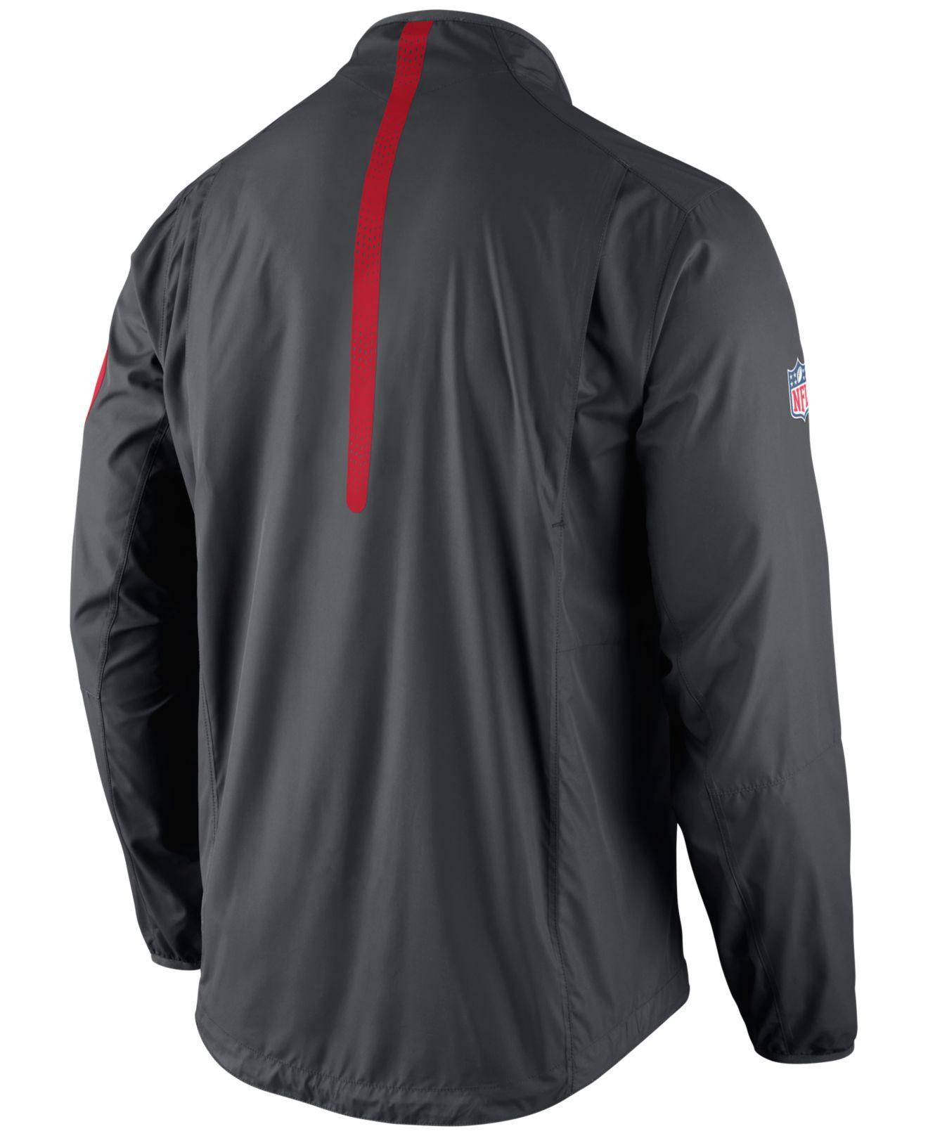 Nike Menu0026#39;s Kansas City Chiefs Lockdown Half-zip Jacket In Gray For Men | Lyst