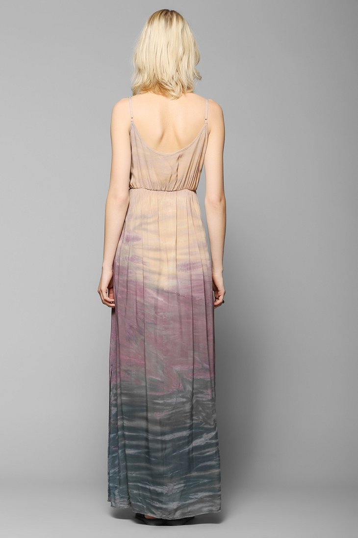 Urban Outfitters Moon And Sky Gradual Dye Maxi Dress Lyst