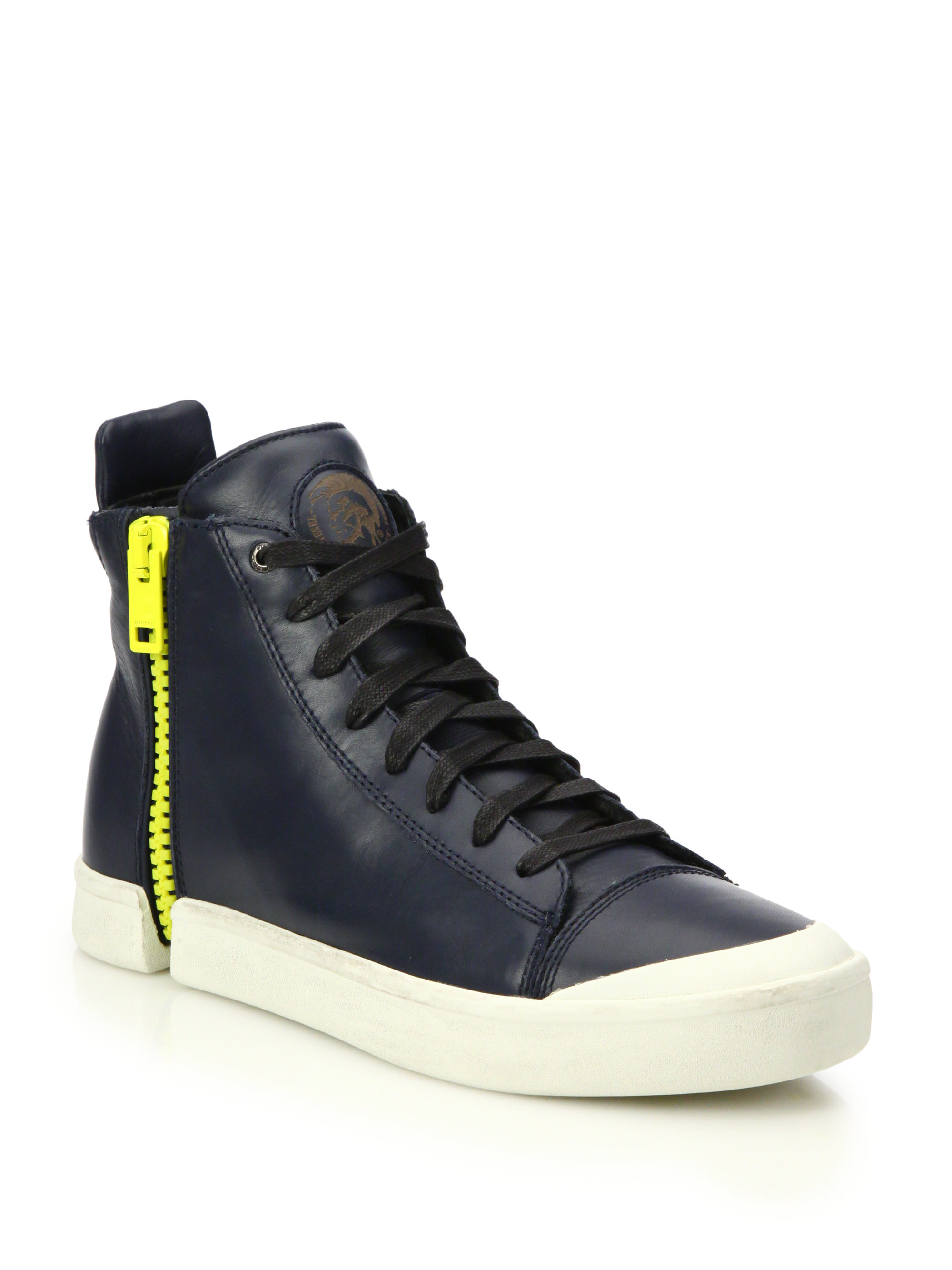 Lyst Diesel Nentish Zip Around Leather High Top Sneakers