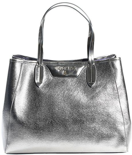 Silk Elements Fierce And Festive Silver Handbag