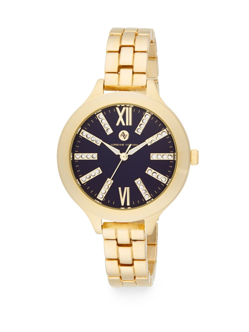 Lyst Adrienne Vittadini Goldtone Bracelet Watch In Metallic