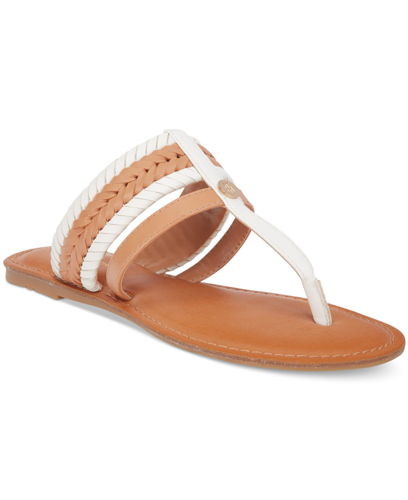 1b8129269 Tommy Hilfiger Lady Flat Thong Sandals in Metallic - Lyst