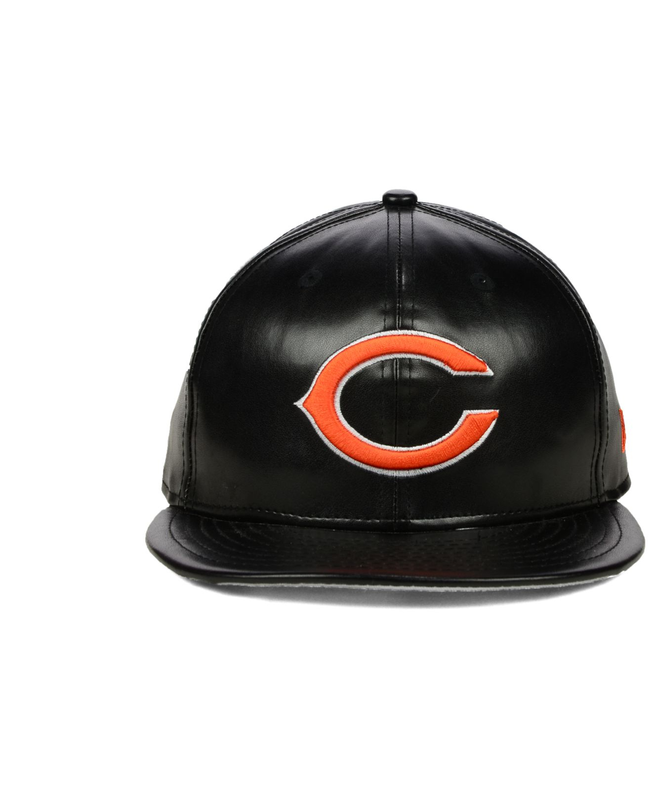ebb41a7f01ab1 ... promo code for lyst ktz chicago bears faux leather 9fifty snapback cap  in black 6e62a 743d7