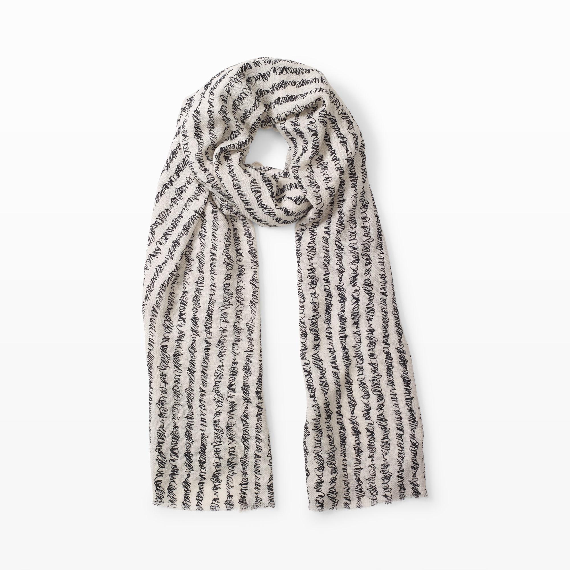 club monaco meera twill scarf in white lyst